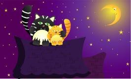 Gatti nell'amore Illustrazione di Stock