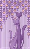 Gatti nell'amore Fotografie Stock