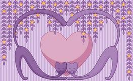 Gatti nell'amore Immagine Stock
