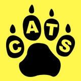 Gatti Paw Represents Pet Care And felino Fotografia Stock Libera da Diritti