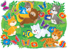 Gattini illustrazione vettoriale