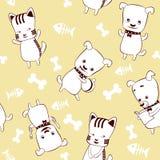 Gattini e cuccioli Immagine Stock Libera da Diritti