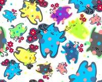 Gattini felici divertenti Fotografia Stock
