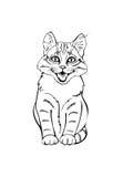 Gattino allegro illustrazione di stock
