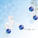 Gattino bianco illustrazione vettoriale