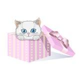 Gattino bianco Royalty Illustrazione gratis