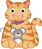 Gattino che gioca con un mouse Immagine Stock Libera da Diritti
