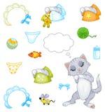 Gattino di sonno (ragazzo) Immagini Stock Libere da Diritti