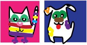 Gattino e cucciolo Royalty Illustrazione gratis