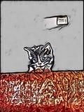 Gattino molto sveglio, che è stato perso, solo e nella difficoltà Fotografia Stock