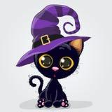 Gattino nero sveglio Immagine Stock