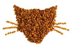 Gatto-alimento Fotografia Stock Libera da Diritti