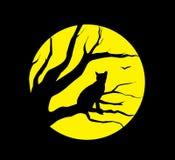 Gatto alla luna Immagini Stock Libere da Diritti