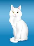 Gatto bianco illustrazione di stock