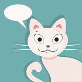 Gatto bianco Illustrazione piana di vettore Royalty Illustrazione gratis