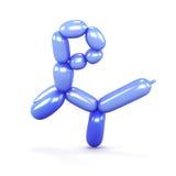 Gatto blu fatto dei palloni su un fondo bianco Vista laterale 3d Fotografia Stock Libera da Diritti