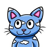 Gatto blu sveglio della nuvola di fantasia illustrazione di stock