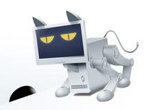 Gatto-calcolatore. Robocat. Fotografia Stock