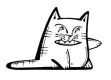 Gatto che gioca con una penna Fotografie Stock