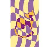 Gatto che si nasconde su un fondo del plaid illustrazione vettoriale