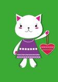 Gatto con cuore Immagini Stock