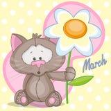 Gatto con i fiori royalty illustrazione gratis