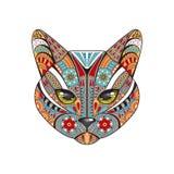 gatto decorativo Illustrazione disegnata a mano di vettore Illustrazione Vettoriale