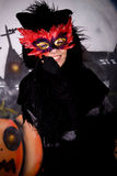 Gatto del carattere di Halloween fotografia stock