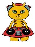 Gatto del DJ Fotografie Stock