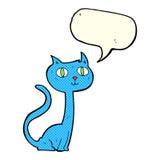 gatto del fumetto con il fumetto Fotografie Stock