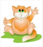 Gatto dell'arancia del fumetto fotografie stock libere da diritti