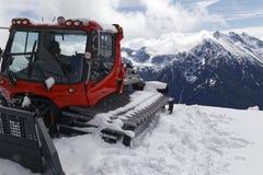 Gatto delle nevi nelle alpi Fotografie Stock Libere da Diritti
