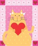 Gatto di amore Fotografie Stock