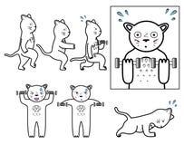 Gatto di forma fisica royalty illustrazione gratis