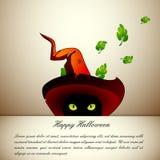 Gatto di Halloween Fotografia Stock Libera da Diritti