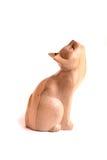 Gatto di legno immagini stock