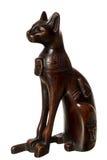 Gatto di legno - ricordo dall'Egitto Fotografia Stock Libera da Diritti