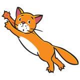 gatto di salto Fotografia Stock Libera da Diritti