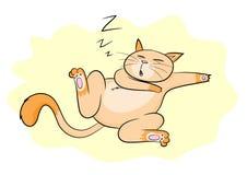 Gatto di sonno illustrazione di stock