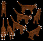 gatto di soriano isometrico 3d Immagine Stock
