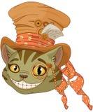 Gatto di Steampunk Cheshire in cilindro royalty illustrazione gratis