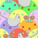 Gatto e farfalla Immagini Stock Libere da Diritti