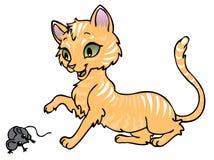 Gatto e mouse Fotografie Stock Libere da Diritti