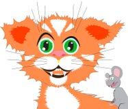 Gatto e mouse Immagini Stock