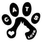 Gatto e piste royalty illustrazione gratis