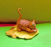 Gatto giallo del plasticine Immagini Stock