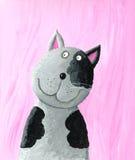 Gatto grigio divertente royalty illustrazione gratis