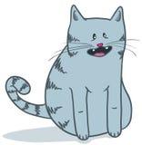 Gatto grigio sveglio Fotografia Stock Libera da Diritti