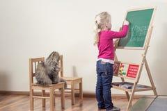 Gatto insegnato a bambino. Fotografie Stock
