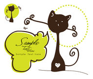 Gatto marrone bello illustrazione vettoriale